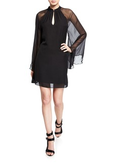Alice + Olivia Priya Mandarin Collar Tunic Dress