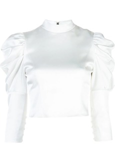 Alice + Olivia puffed shoulder blouse