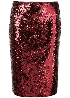 Alice + Olivia Ramos sequinned pencil skirt