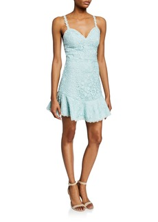 Alice + Olivia Rapunzel Sweetheart Sleeveless Floral Lace Dress