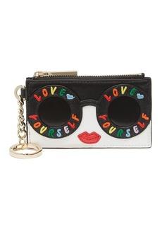 Alice + Olivia Regina Leather Card Case