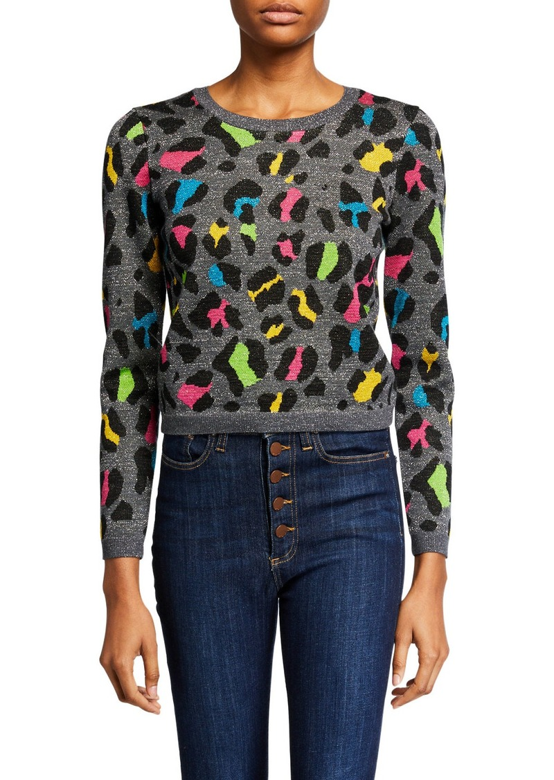 Alice + Olivia Rhodes Crewneck Long-Sleeve Top