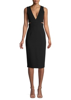 Alice + Olivia Riki Fitted Sheath Dress