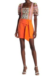 Alice + Olivia Riva Tie Mini Skirt