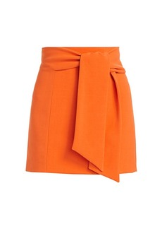 Alice + Olivia Riva Tie-Waist Mini Skirt