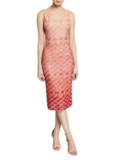 Alice + Olivia Rosalee Embellished Mock-Neck Midi Gown