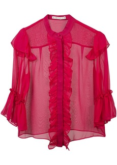 Alice + Olivia ruffled silk blouse
