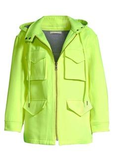 Alice + Olivia Russo Hooded Zip-Up Jacket