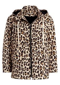 Alice + Olivia Russo Leopard Hooded Parka