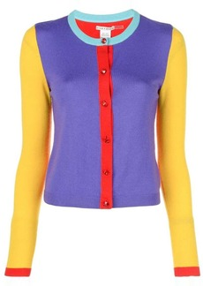 Alice + Olivia Ruthy colour block cardigan