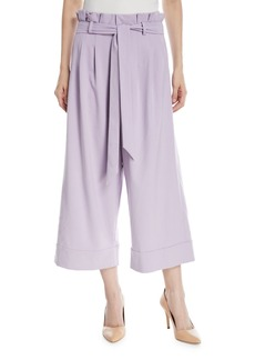 Alice + Olivia Ryan Paperbag Wide-Leg Crop Pants