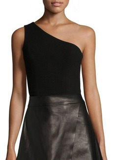 Alice + Olivia Sabina One-Shoulder Cropped Top