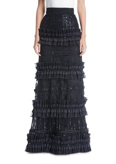 Alice + Olivia Samia Pleated Tier Ball Gown