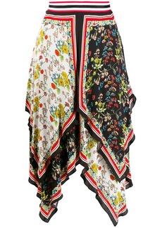 Alice + Olivia scarf print skirt