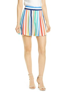 Alice + Olivia Scarlet Striped High Waist Flutter Shorts