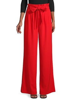 Alice + Olivia Self-Tie Wide Pants
