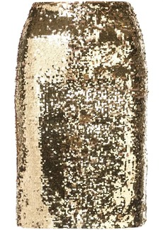 Alice + Olivia sequin embellished pencil skirt
