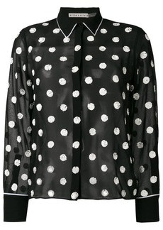 Alice + Olivia sequined polka dot blouse