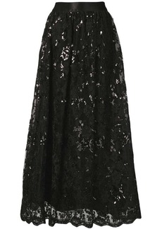 Alice + Olivia sequinned lace maxi skirt