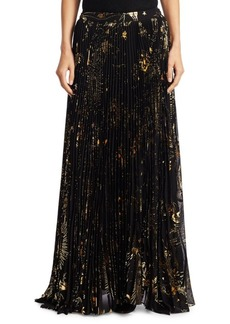 Alice + Olivia Shannon Accordion Floor-Length Skirt
