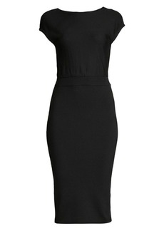 Alice + Olivia Shara Twisted Back Sheath Dress