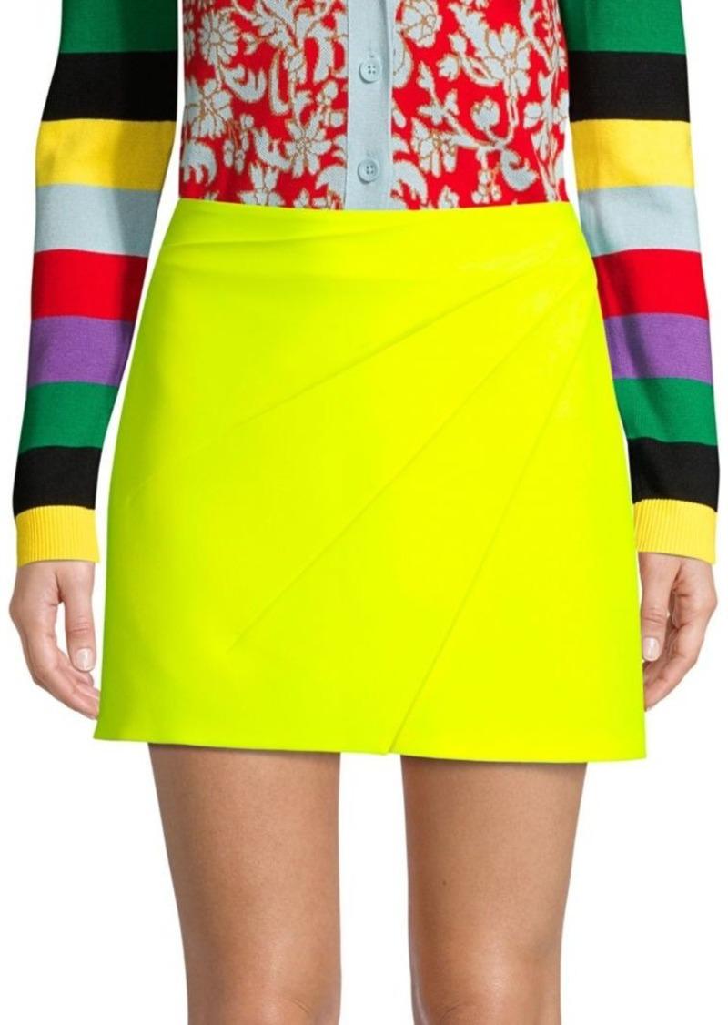 Shaylee Asymmetric Crepe Mini Skirt