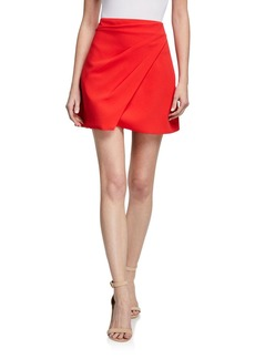Alice + Olivia Shaylee Asymmetric Mini Skirt