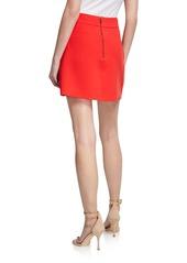 Alice + Olivia Shaylee Asymmetric Mini Skirt