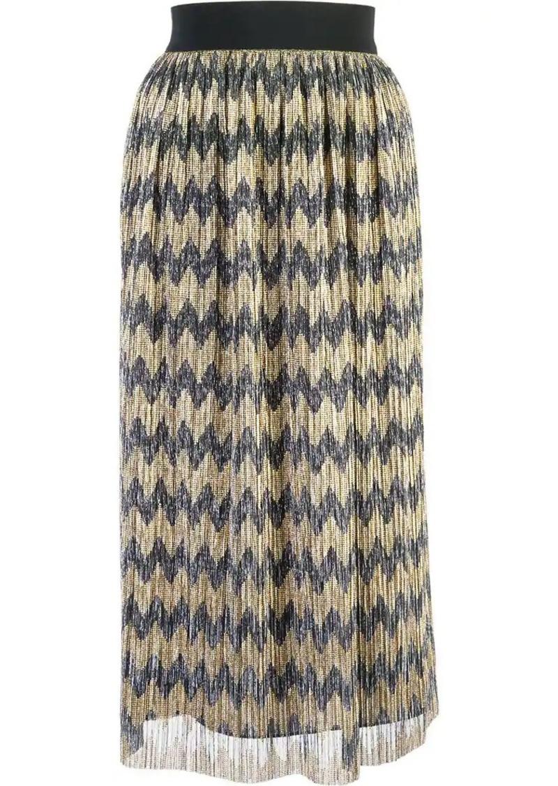 Alice + Olivia sheer patterned skirt