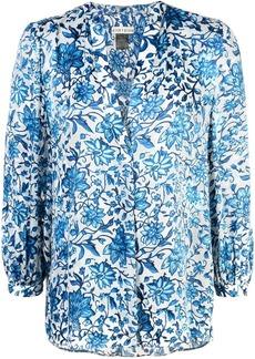 1aed42b53e5ef Alice + Olivia Alice + Olivia Bray Pleated-Sleeve Floral-Print Silk ...