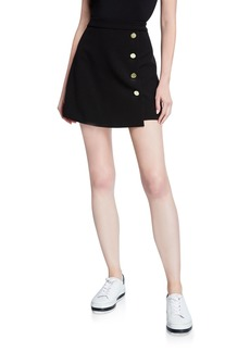 Alice + Olivia Sherilyn Wrapped Button-Front Skirt