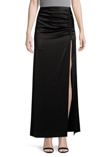 Alice + Olivia Side-Ruched Maxi Skirt