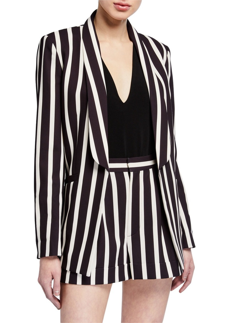 Skye Strong-Shoulder Boxy Boyfriend Blazer