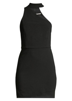 Alice + Olivia Skyla Mock Neck One-Shoulder Bodycon Dress
