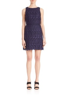 Alice + Olivia Sleeveless Lace Day Dress