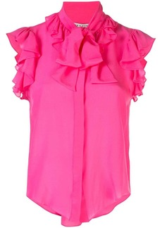 Alice + Olivia sleeveless ruffled blouse