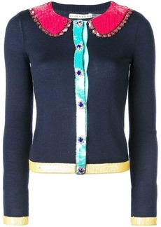 Alice + Olivia slim fit sequin panelled cardigan