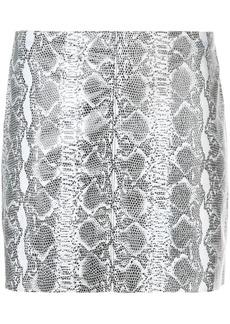 Alice + Olivia snakeskin print mini skirt