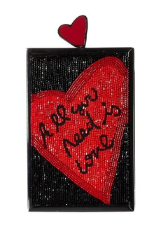 Alice + Olivia Sophia All You Need Is Love North/South Clutch