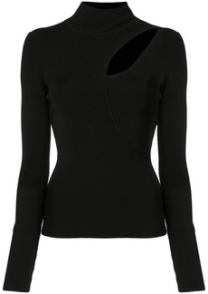 Alice + Olivia Sophie cutout turtleneck sweater