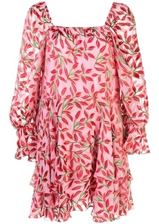 Alice + Olivia square neck floral print dress