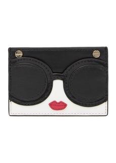 Alice + Olivia Stace Face Leather Card Case