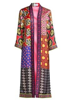 Alice + Olivia Stacey Bendet x Carla Kranedonk Lynn Side Slit Patchwork Kimono