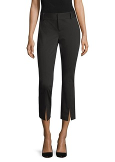 Alice + Olivia Stacey Front-Slit Ankle Pants