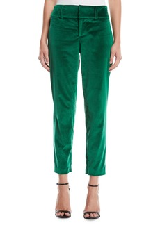 Alice + Olivia Stacey Slim Velvet Ankle Pants
