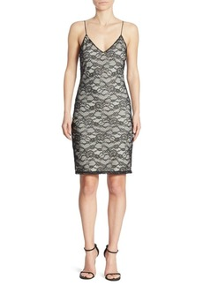 Alice + Olivia Stila Lace Slip Dress