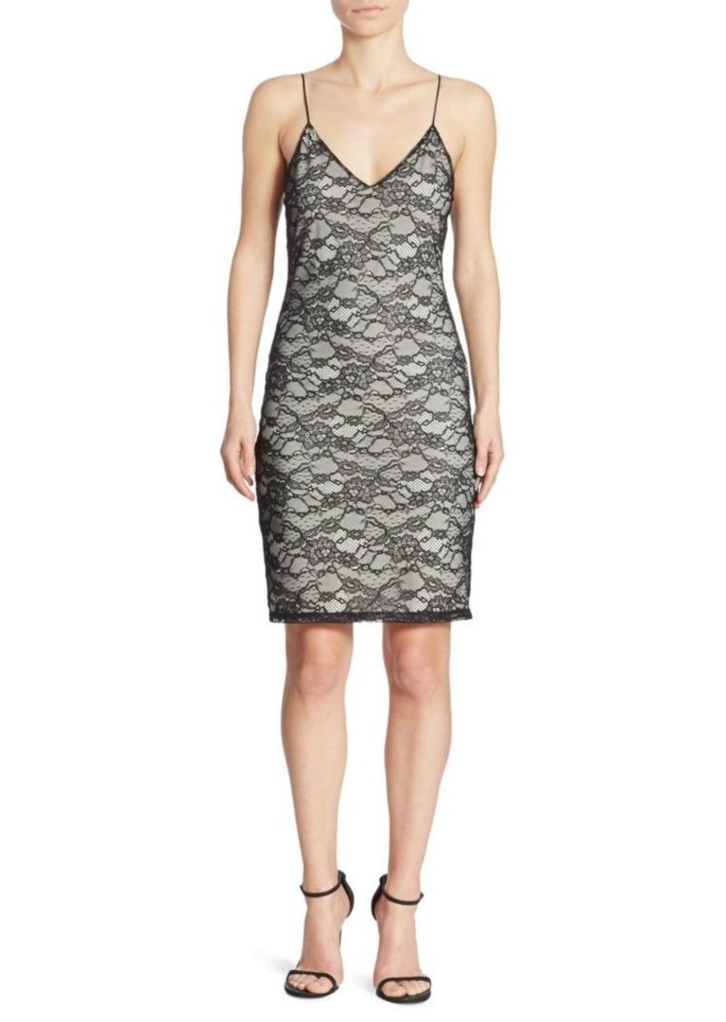 Alice + Olivia Stila Lace Slip Dress