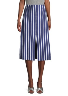 Alice + Olivia Striped Knee-Length A-Line Skirt