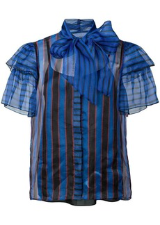 Alice + Olivia striped ruffle blouse