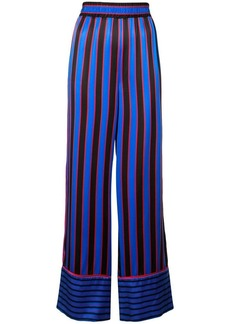 Alice + Olivia striped silk nightwear trousers